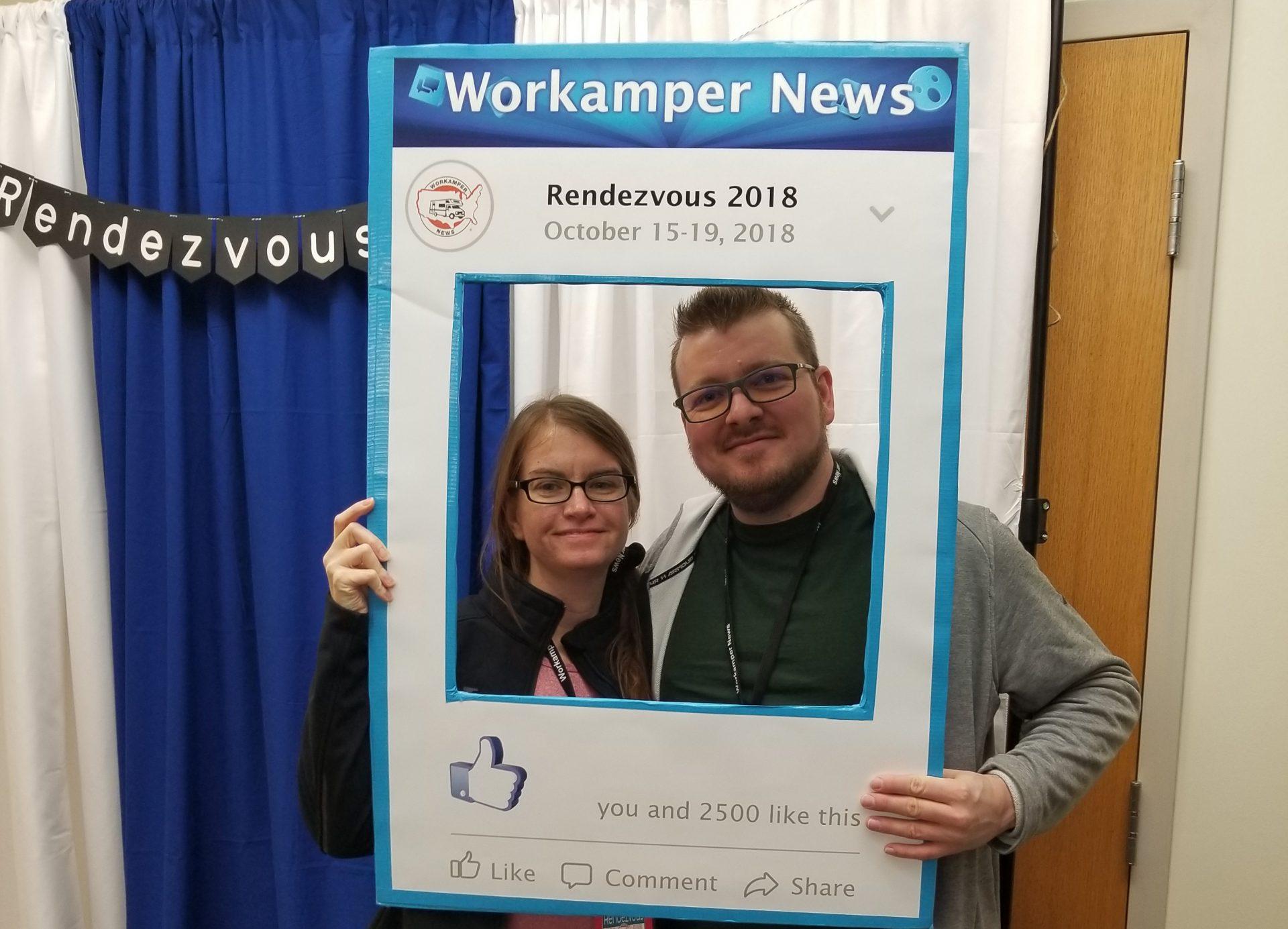 Julie & Brandon, newbies at Workamper Rendezvous