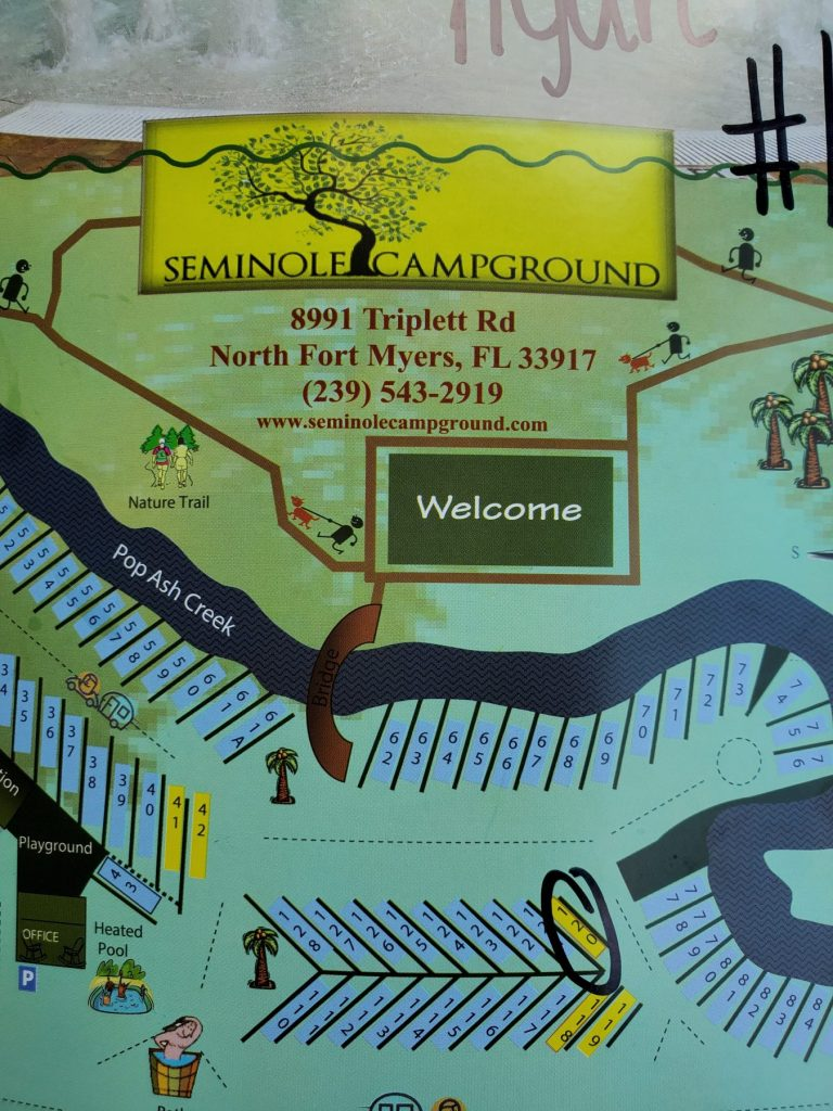 Seminole Campground map