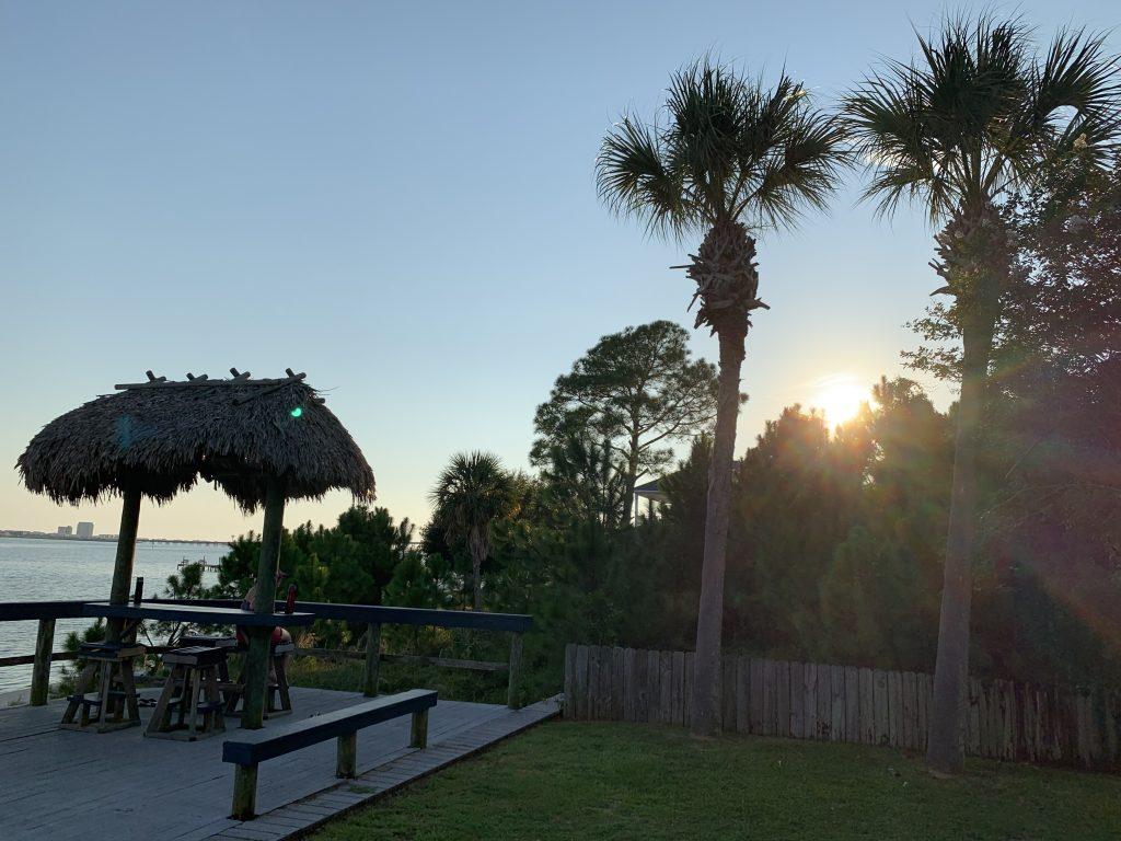 Sunset Tiki Bar at Emerald Beach RV Park