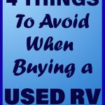 4 Things to Avoid When Buying a Used RV