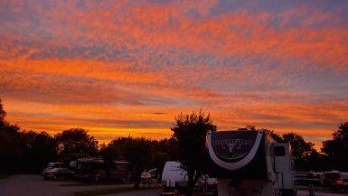 Sunset in Clarksville, TN