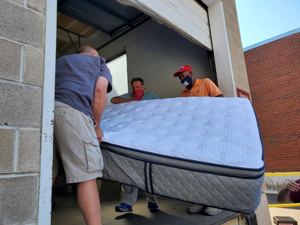 donating our mattress at Denver Rescue Mission.