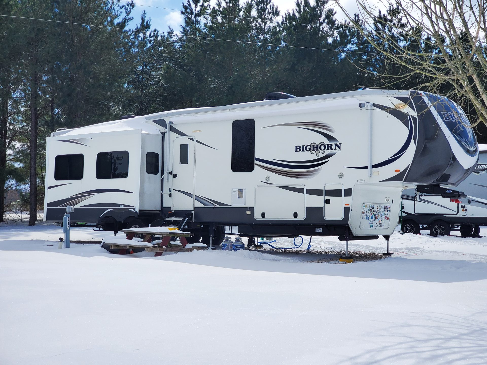 Surviving cold and snow in an RV