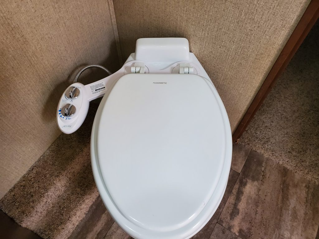 Installing a new toilet and bidet in your RV